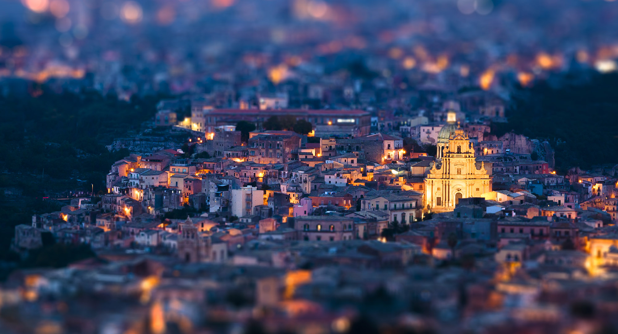Ragusa Ibla tilt-shift